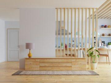 panoramica sulla sala di una casa