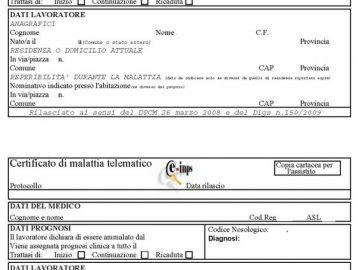 certificato di malattia per il datore di lavoro
